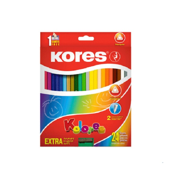 Colores Triangulares Kores 24 Und